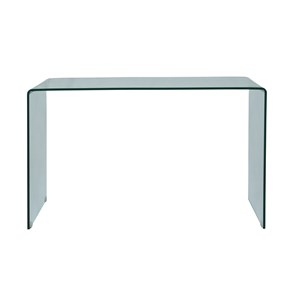 Jofran Clarity Bent Glass Sofa Table