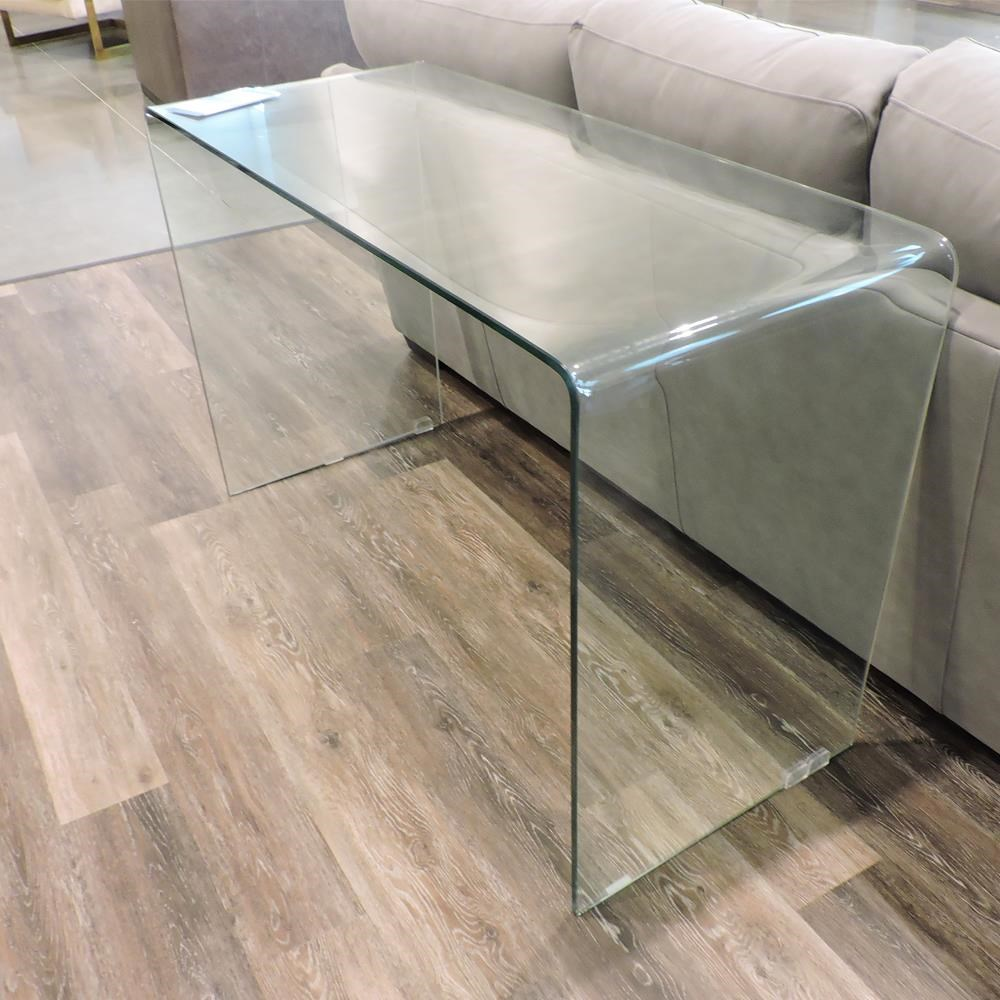 Clearance Bent Glass Sofa Table by Belfort Essentials at Belfort Furniture