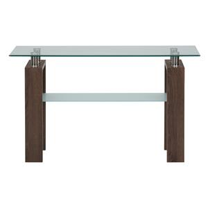 Jofran Compass Sofa Table with  Glass Top