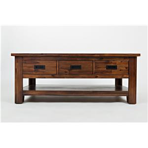 Jofran Coltran Three Drawer Cocktail Table