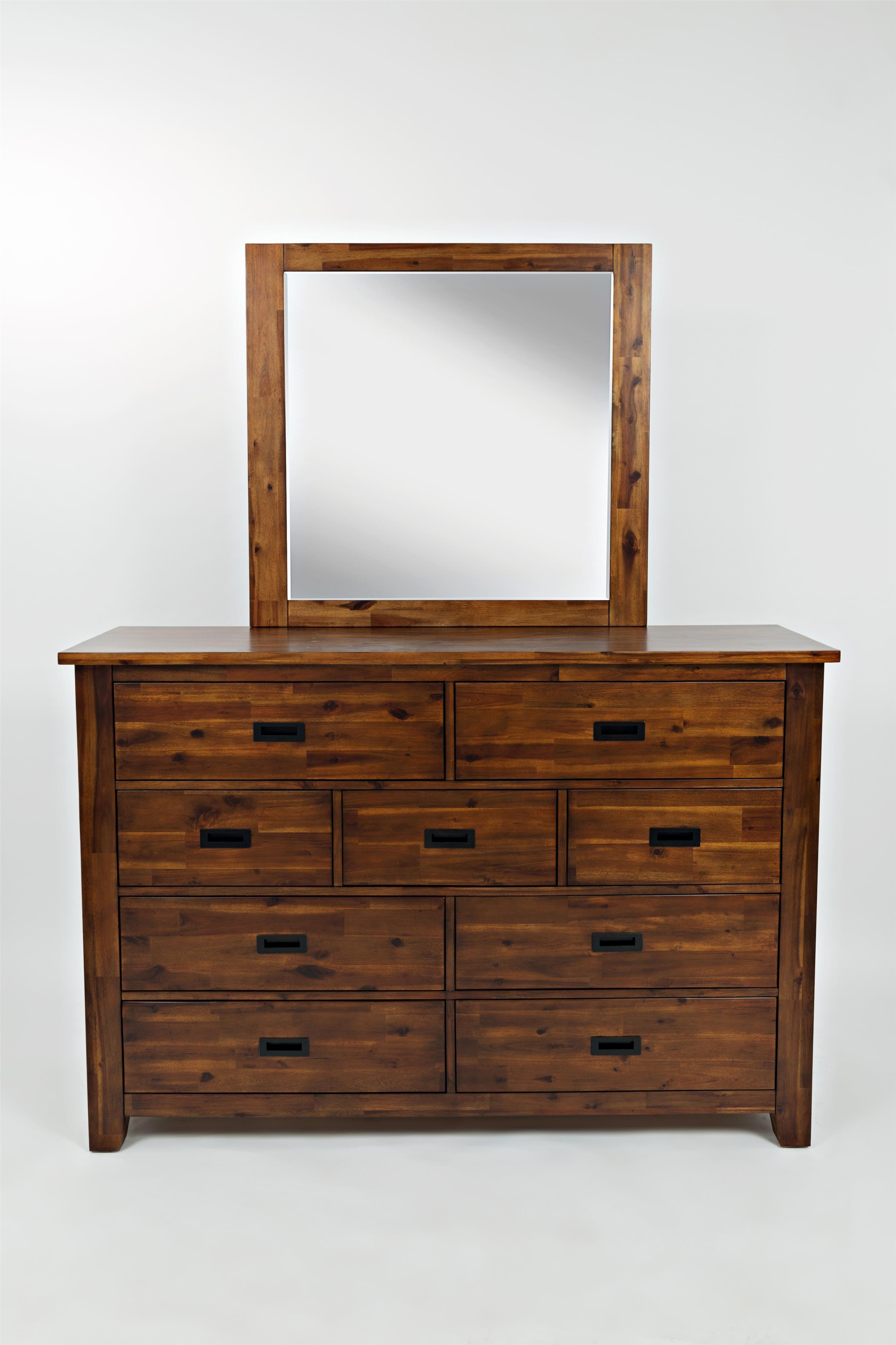 Jofran Coolidge Corner 9 Drawer Dresser and Mirror - Item Number: 1503-10+20