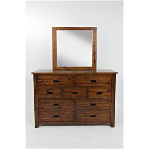 Jofran Coolidge Corner 9 Drawer Dresser and Mirror
