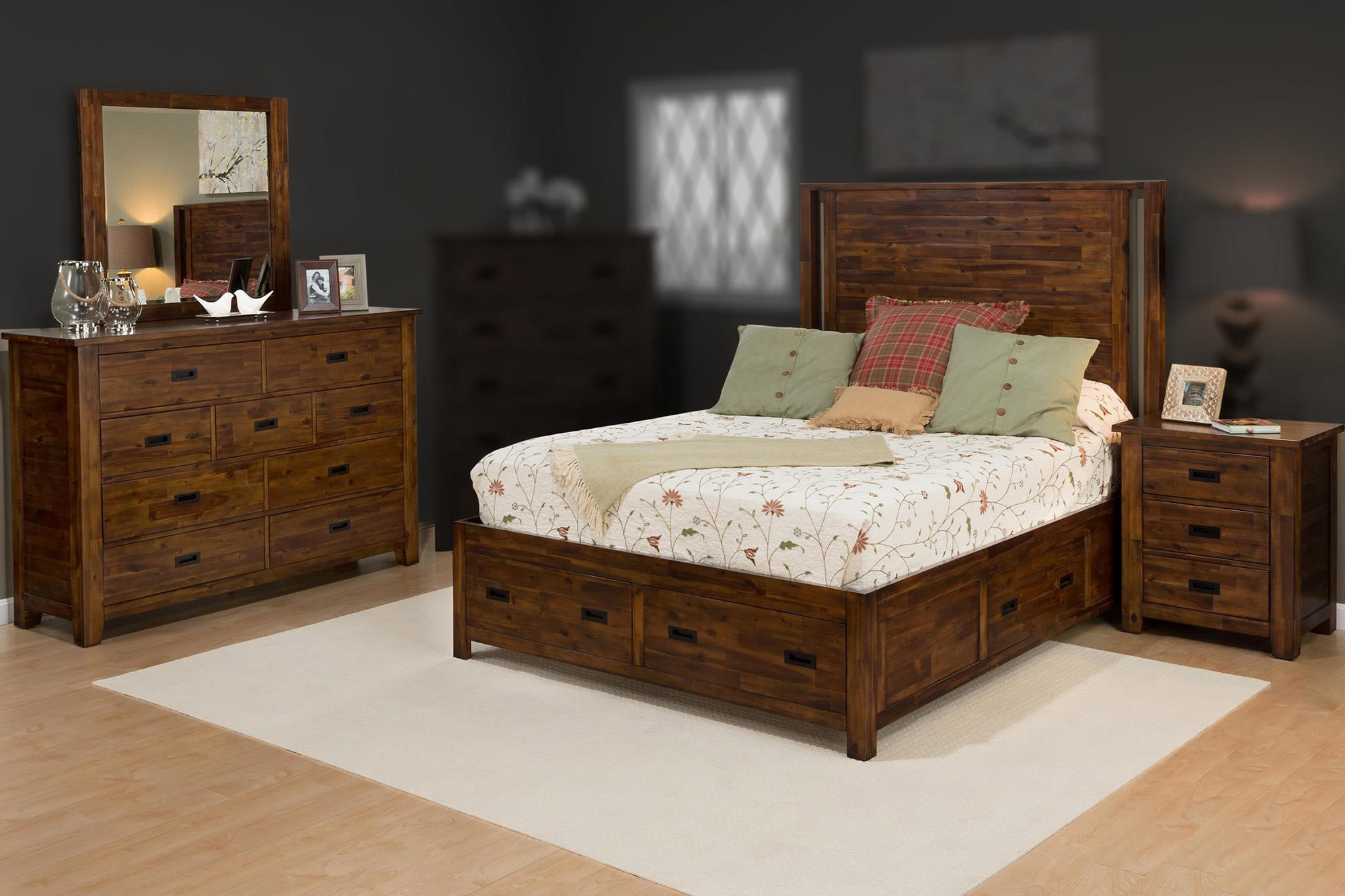 Jofran Coltran 4PC Queen Storage Bedroom Set - Item Number: 1503-QSBR-4PC