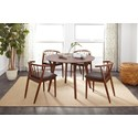 Jofran Copenhagen Round Dining Table and Chair Set - Item Number: 1769-44+4xDENMARK