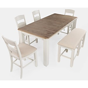 6-Piece Counter Height Table and Chair Set