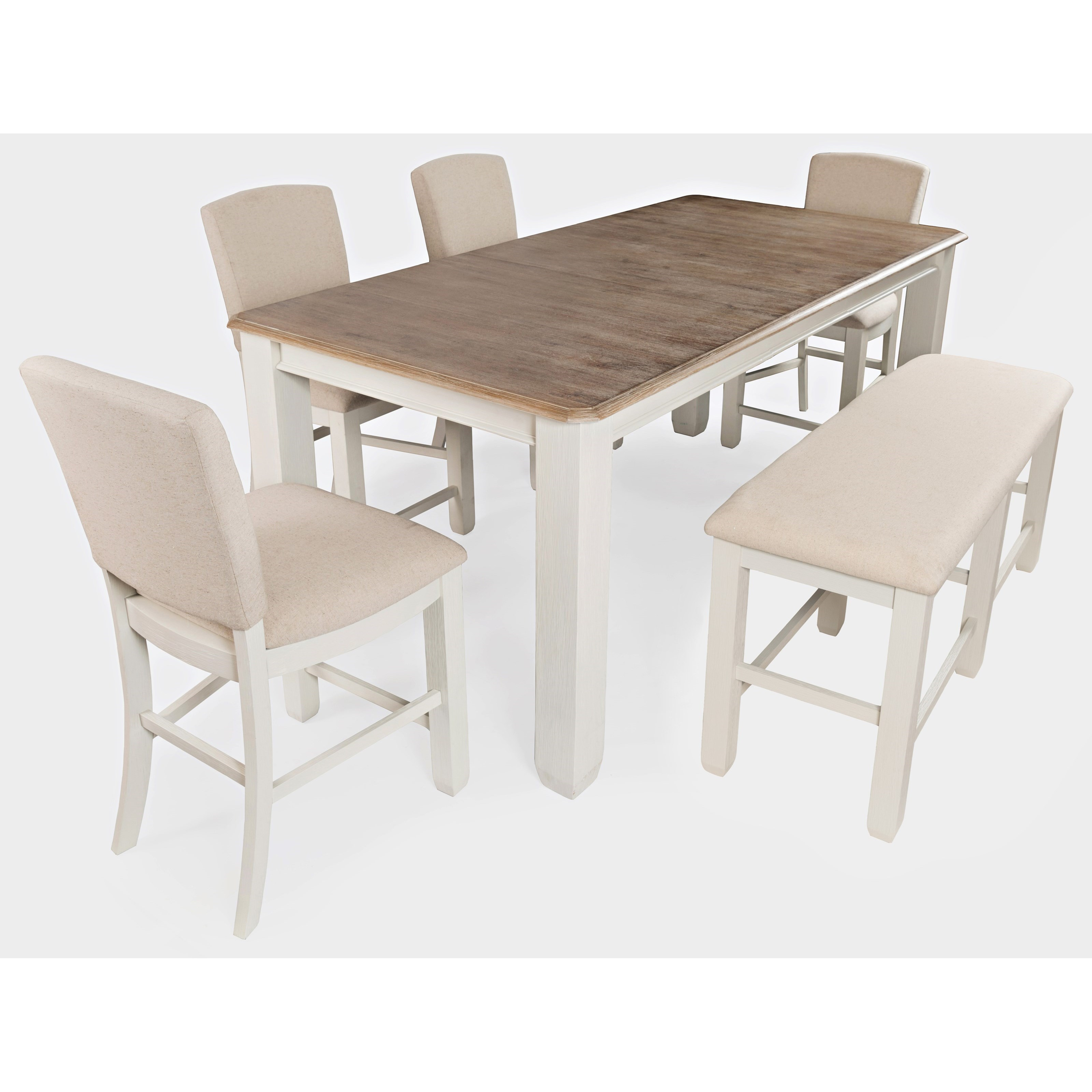 Dana Point 6-Piece Counter Height Table and Chair Set by Jofran at Jofran
