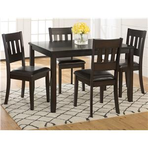Jofran Dark Roast 5-Pack- Table and 4 Chairs