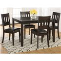 Jofran Dark Roast 5-Pack- Table and 4 Chairs - Item Number: 922