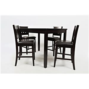 Jofran Dark Rustic Prarie Dark Rustic Prairie Counter Height Table Set