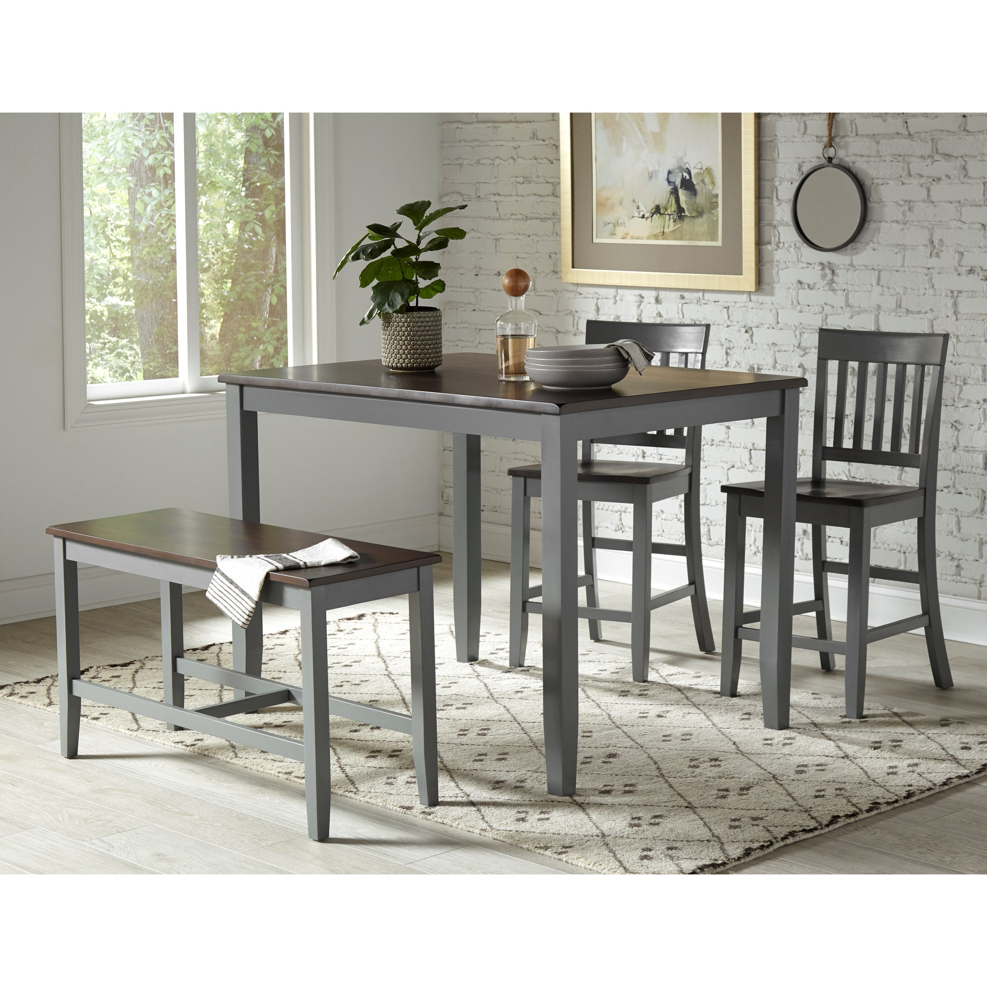 Decatur Lane 4 Pack Counter Height Group by Jofran at Jofran
