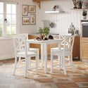 Jofran Eastern Tides 5 Piece Counter Table and Stool Set - Item Number: 2146-48+BS420KD 5PC