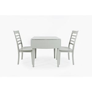 Drop-Leaf Rectangle Table and 2 Chair Set