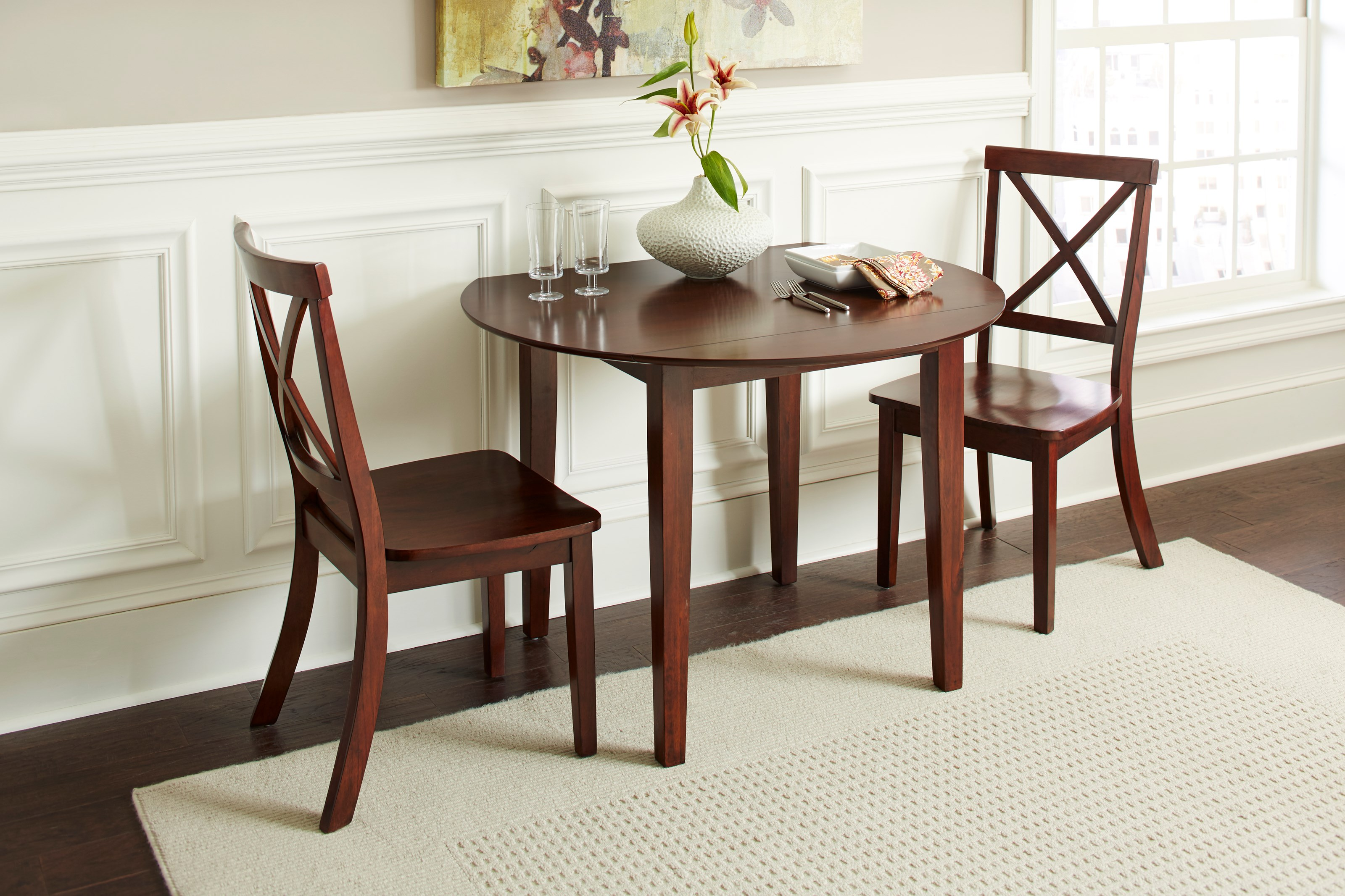 Jofran Everyday Classics Drop Leaf Table And 2 Chair Set
