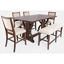Jofran Fairview 6-Piece Counter Table and Chair Set - Item Number: 6PC 1931-78 Counter