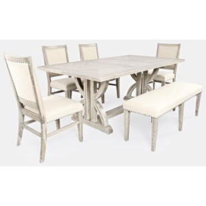 Dining Table and Chair Set with Bench