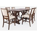 Jofran Fairview 7-Piece Counter Table and Chair Set - Item Number: 7PC 1931-78 Counter