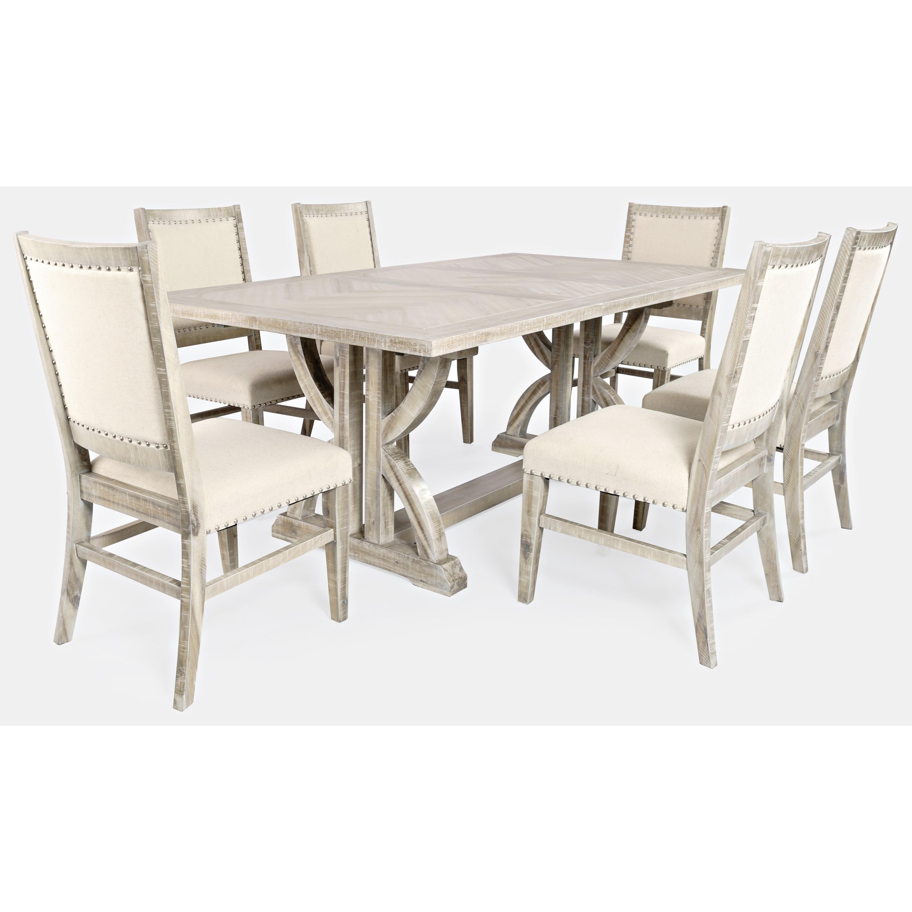 Fairview 7-Piece Dining Table and Chair Set by Jofran at Stoney Creek Furniture
