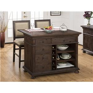 Jofran Geneva Hills Kitchen Island and Chair Set