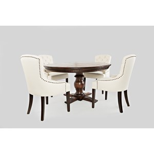 Jofran Geneva Hills Table and Upholstered Chair Set