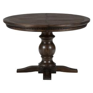 Geneva Hills Round to Oval Table with Pedestal Base by Jofran