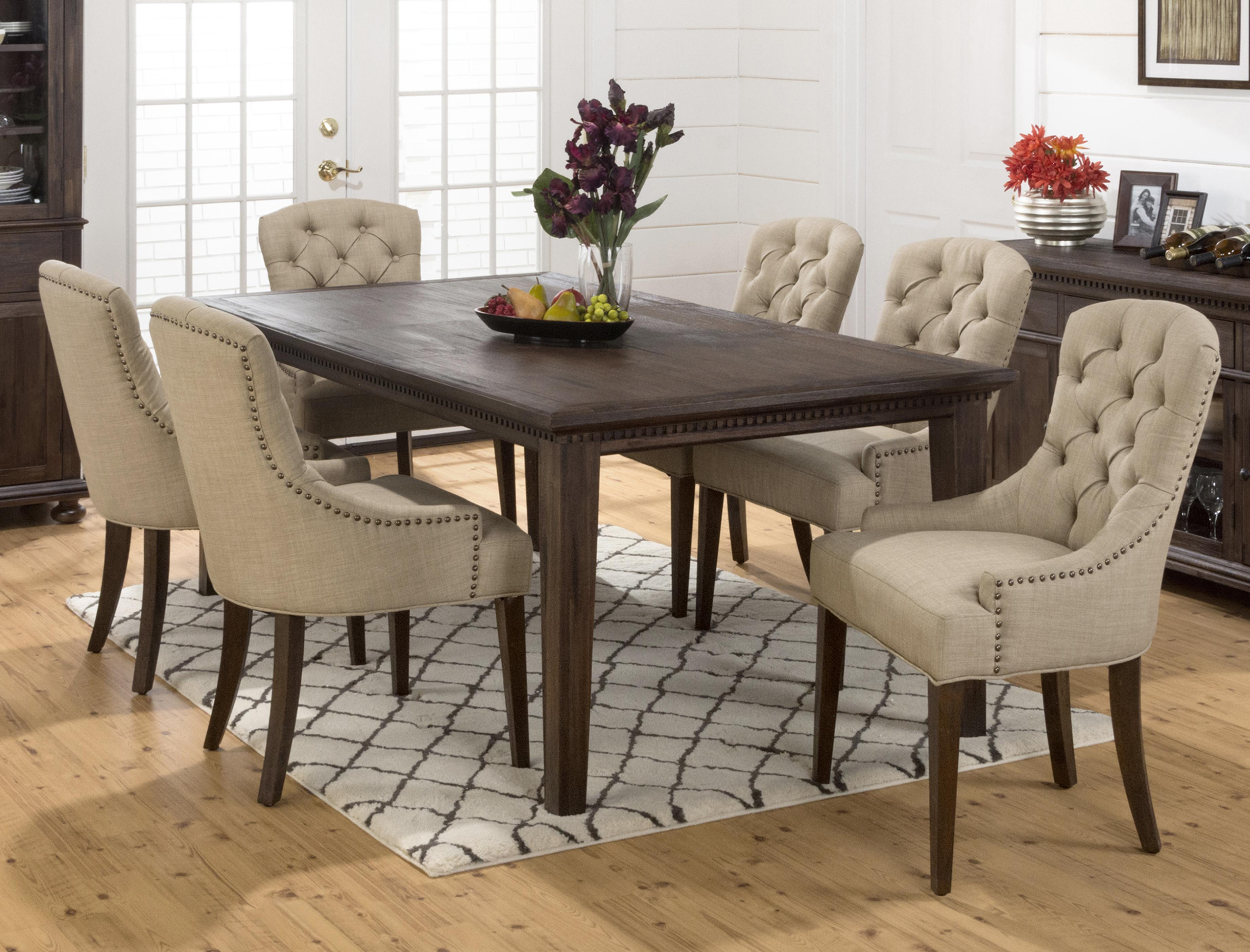 Exceptionnel Jofran Geneva Hills Large Table And Upholstered Chair Set   Item Number:  678 78