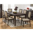 Jofran Geneva Hills Large Table and Side Chair Set - Item Number: 678-78+6x423KD