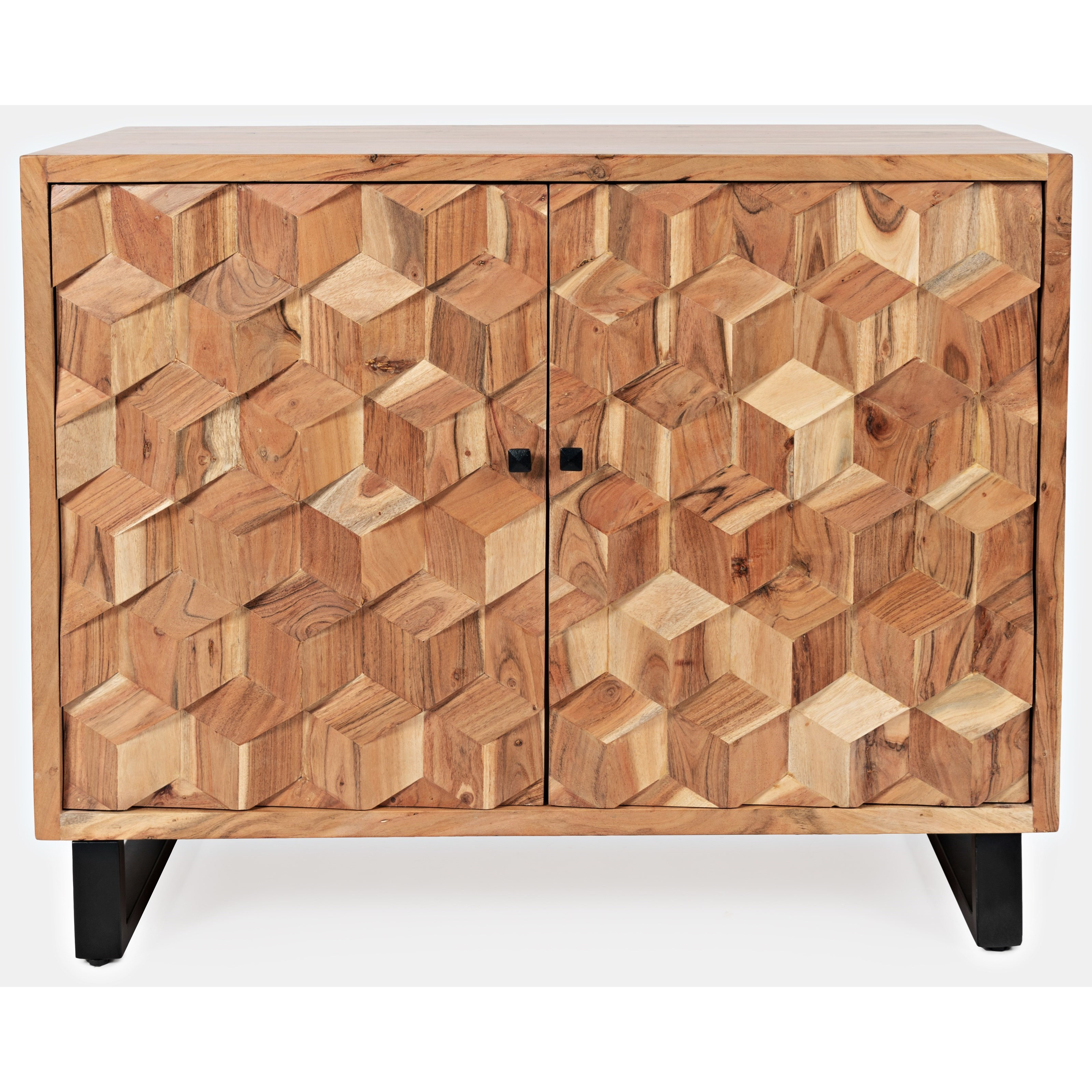 Geometrix 2-Door Accent Cabinet by Jofran at Beck's Furniture