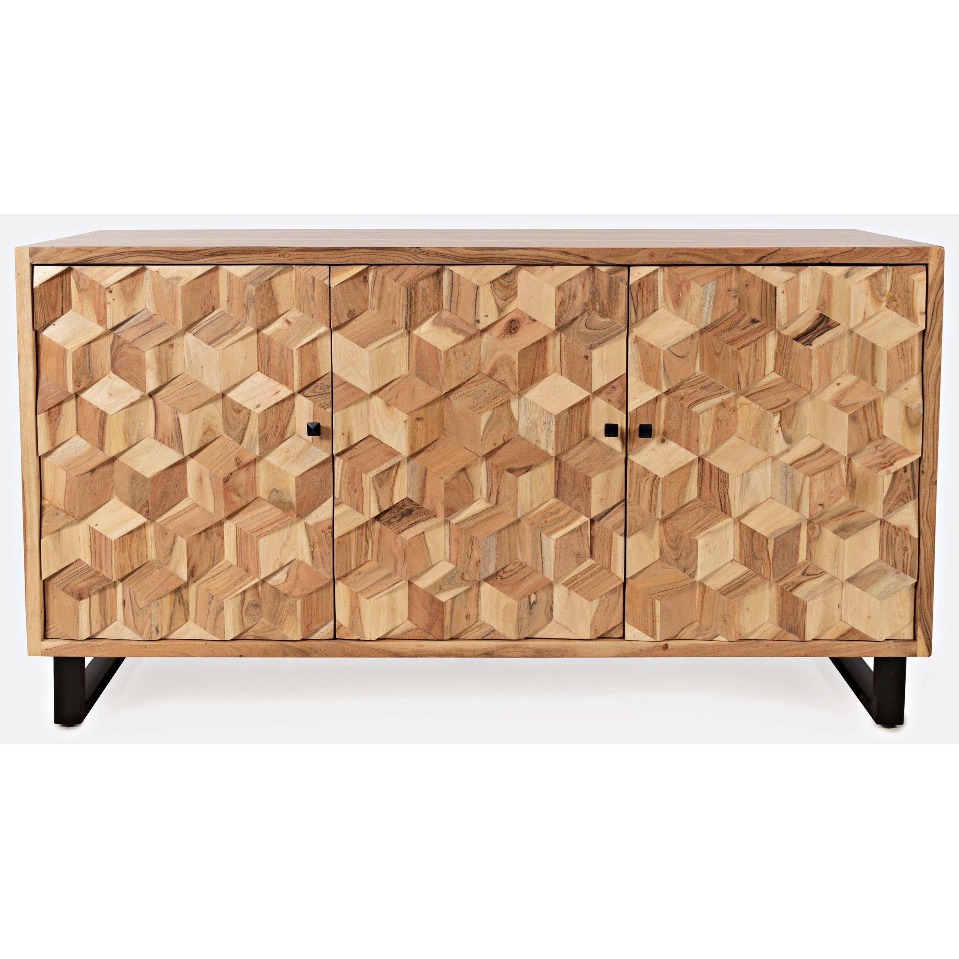 Geometrix 3-Door Accent Cabinet by Jofran at Stoney Creek Furniture