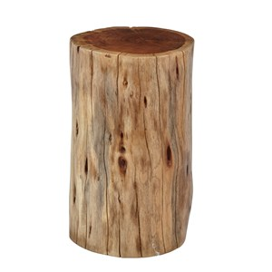 Hardwood Stump Accent Table