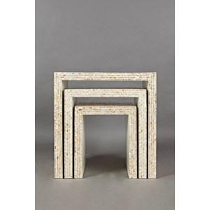Capiz Basket Weave Nesting Tables (Set of 3)