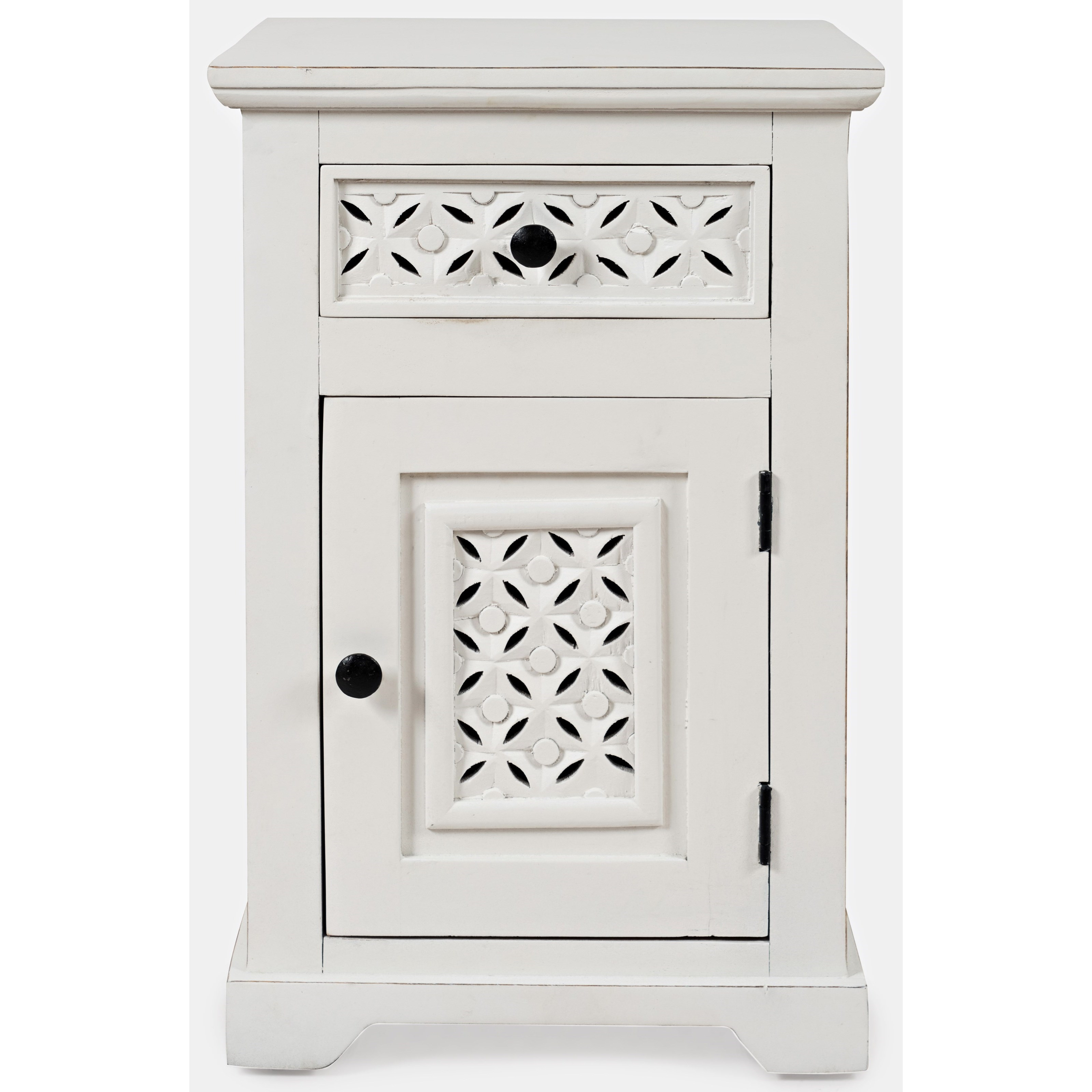 White Cabinet Accent Table
