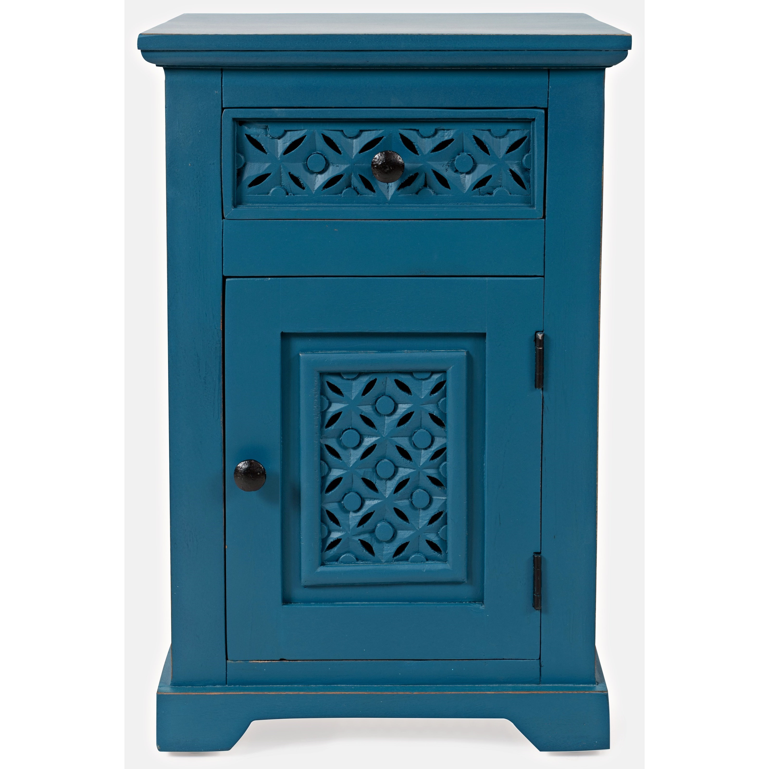 Blue Cabinet Accent Table
