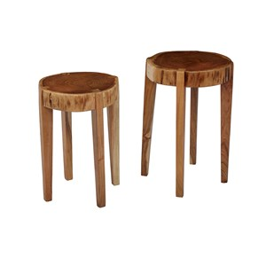 Jofran Global Archive All Wood Accent Tables (Set of 2)