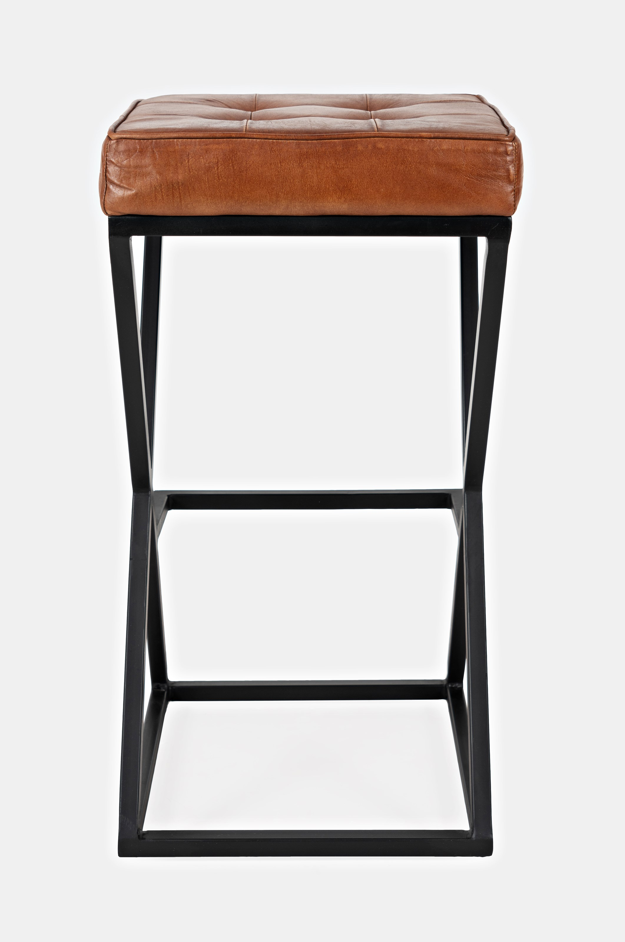 Global Archive Leather Stool by Jofran at Stoney Creek Furniture