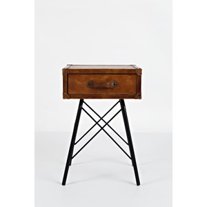 Jofran Global Archive Leather Accent Table