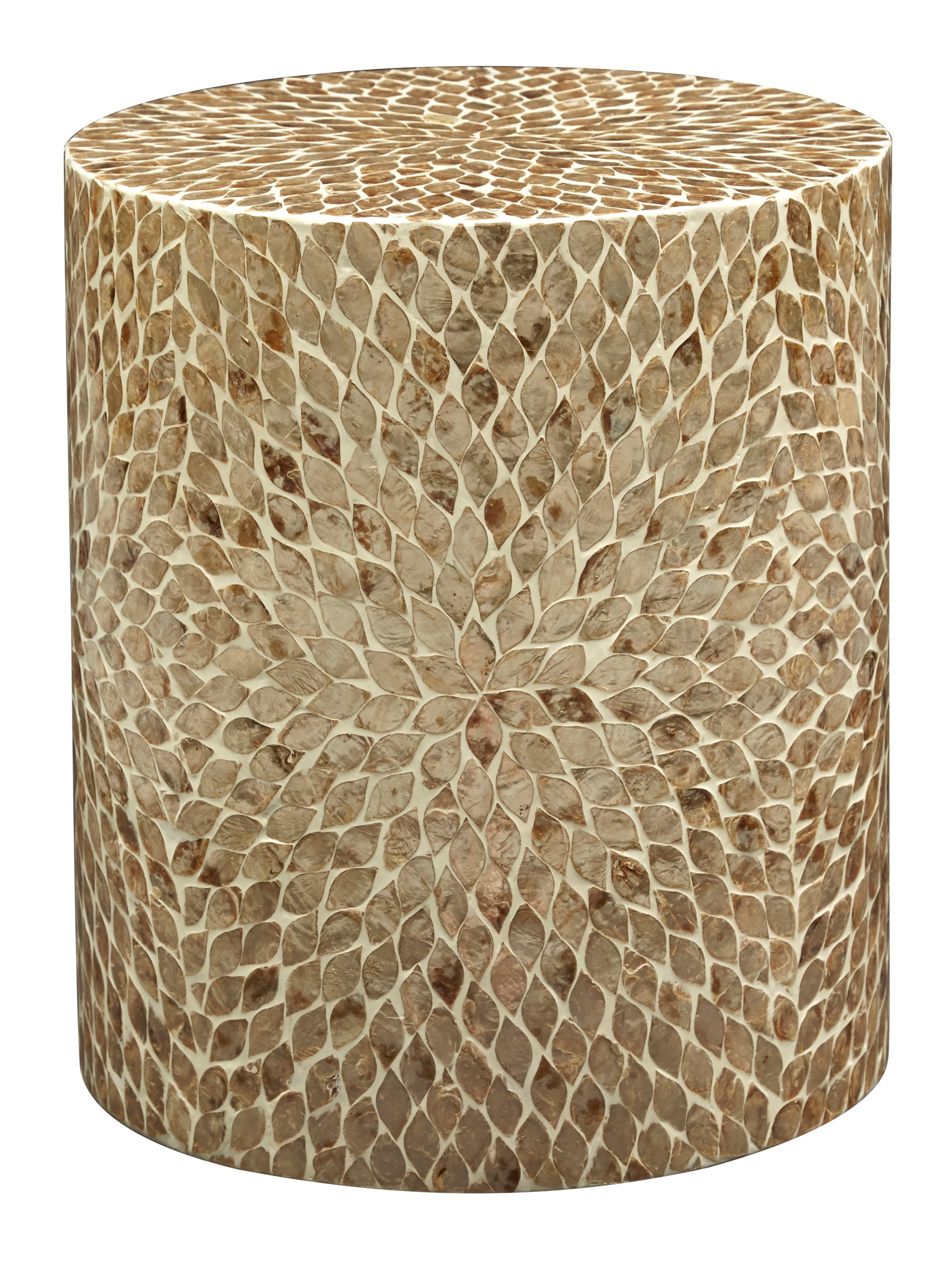 Global Archive Round Capiz Accent Table by Jofran at Stoney Creek Furniture