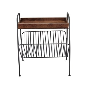 Magazine Rack Chairside Table
