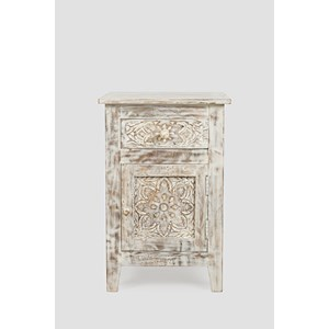 Jofran Global Archive Hand Carved Accent Table