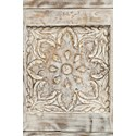 Jofran Global Archive Hand Carved Accent Table - Carved Accent Detail Shot