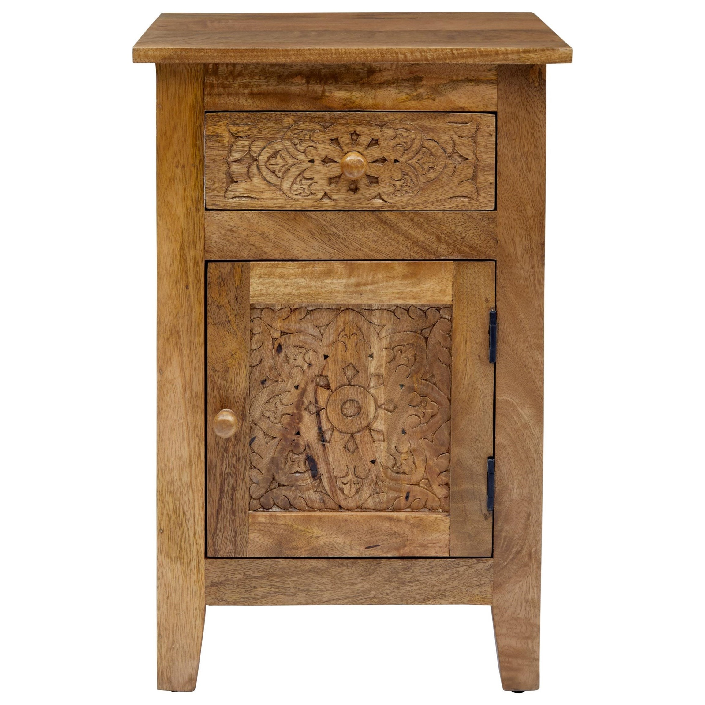 Global Archive Hand Carved Accent Table by Jofran at Stoney Creek Furniture