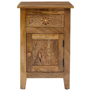 Hand Carved Accent Table