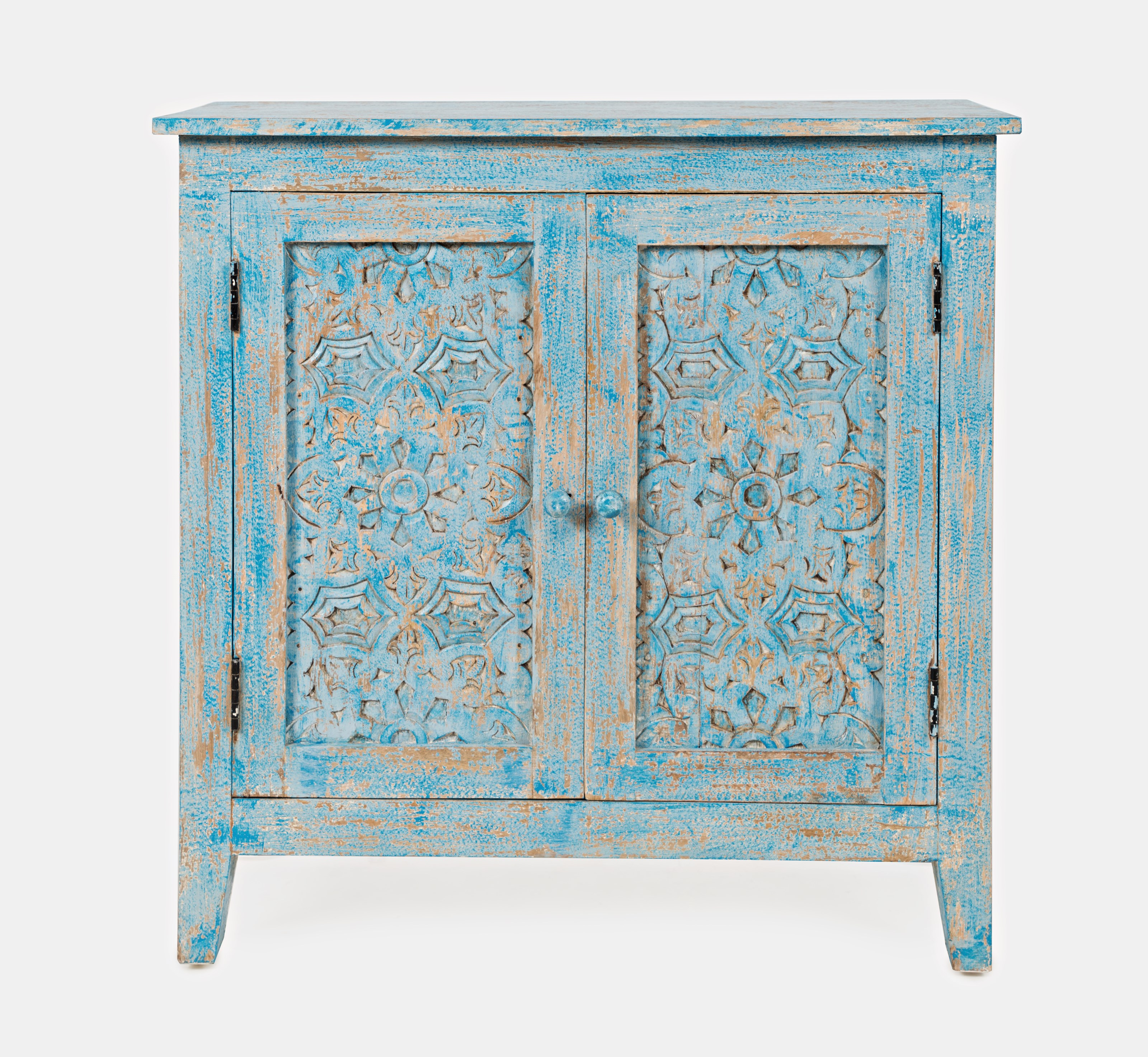 Global Archive Chloe Hand-Carved Accent Chest by Jofran at Jofran