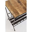 Jofran Global Archive Storage Chairside Table - Table Top Detail Shot