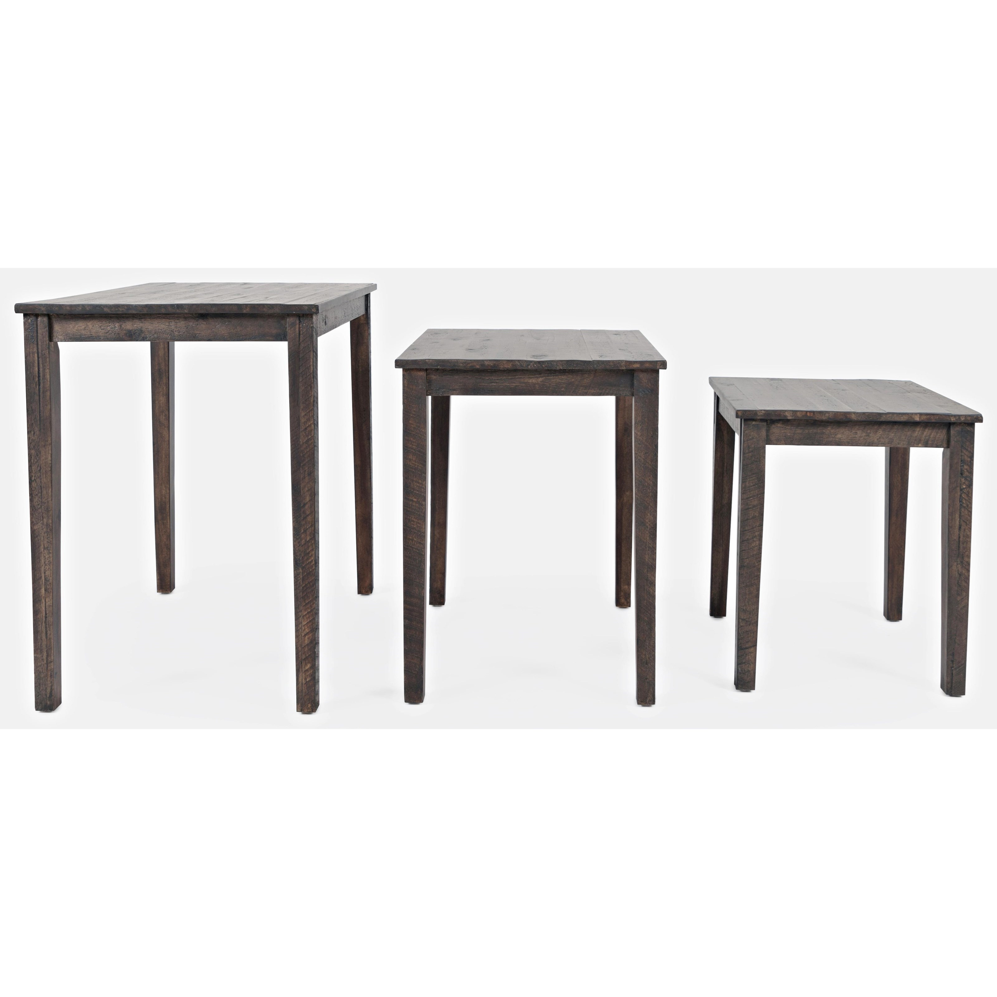 Global Archive Clark Solid Wood Nesting Tables by Jofran at Stoney Creek Furniture