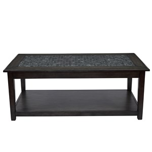 Jofran Grey Mosaic Cocktail Table