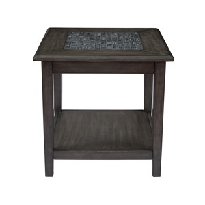 Jofran Grey Mosaic End Table