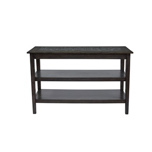 Jofran Grey Mosaic Sofa/Media Table