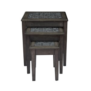 Jofran Grey Mosaic Nesting Tables - Set of 3