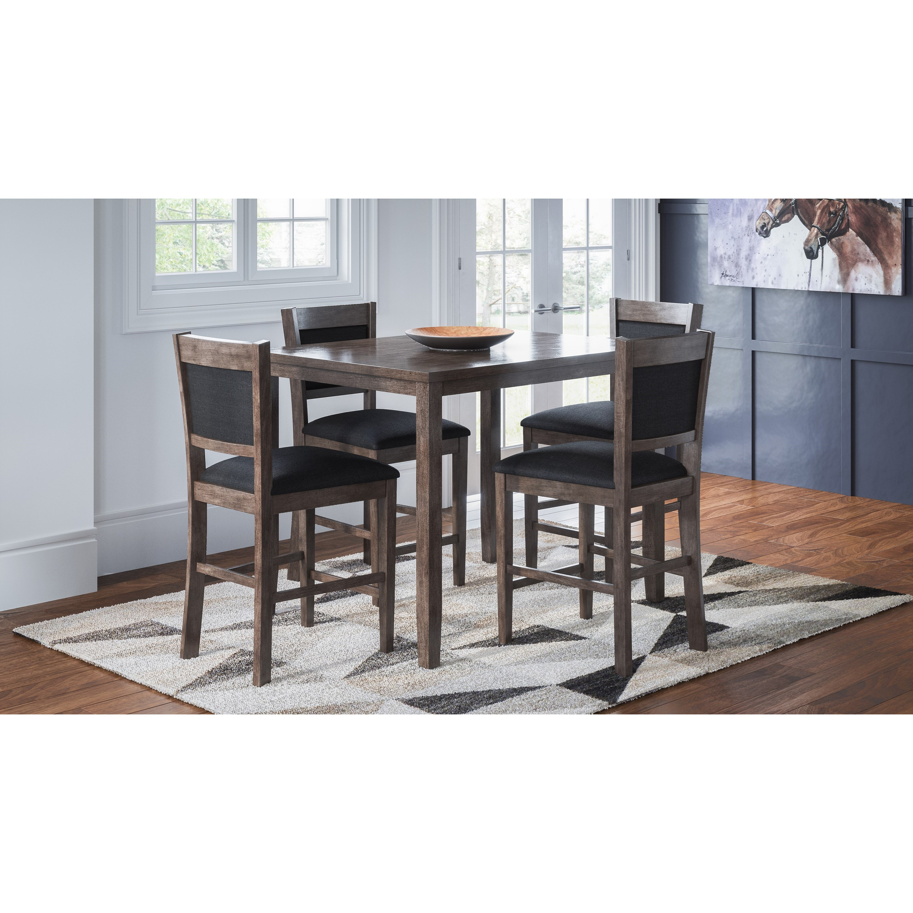 Greyson Heights 5 Pack Counter Height Dining Set by Jofran at Darvin Furniture