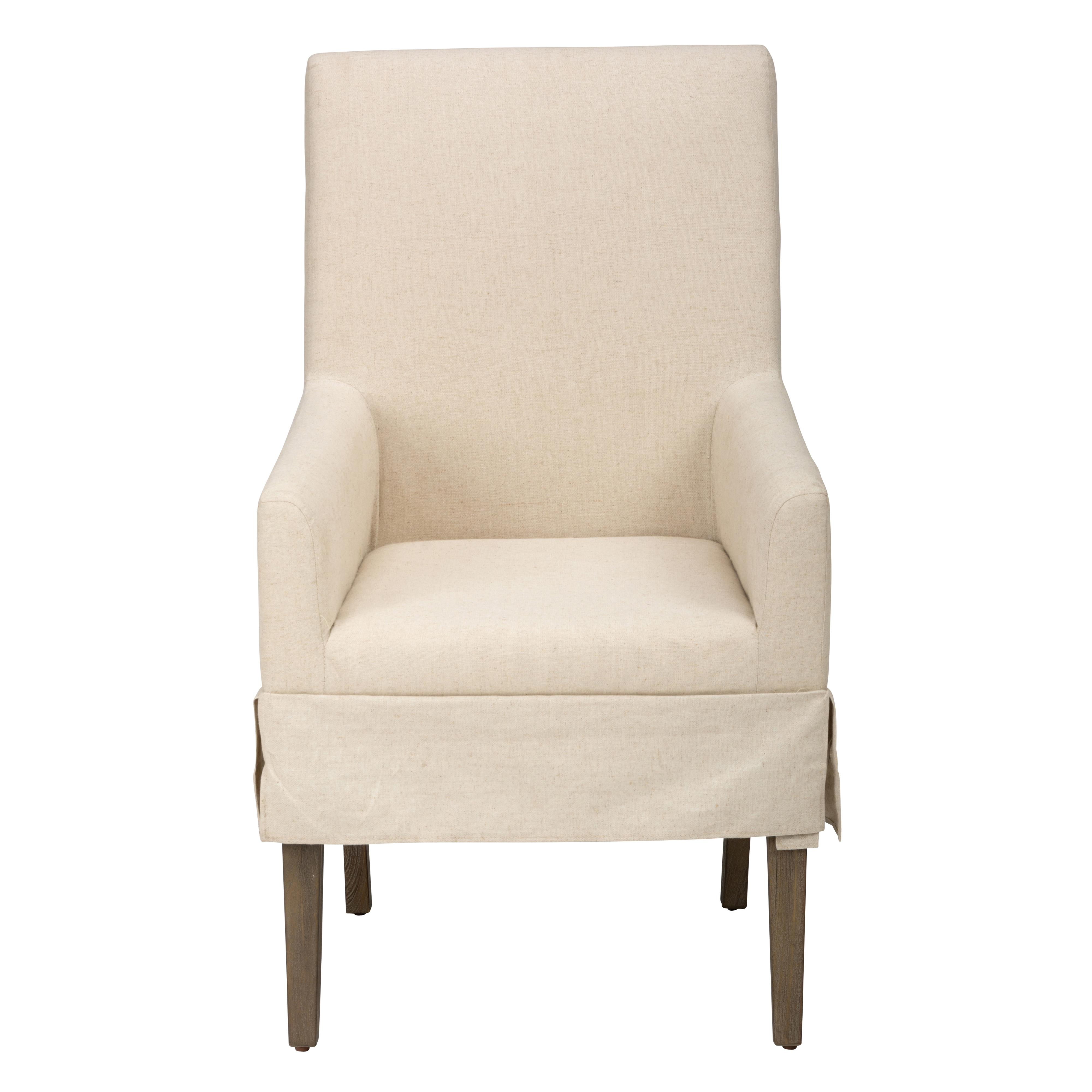 Jofran Hampton Slipcovered Dining Chair with Arm Rests - Item Number: 872-147KD